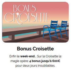 Bonus Croisette Azur Casino