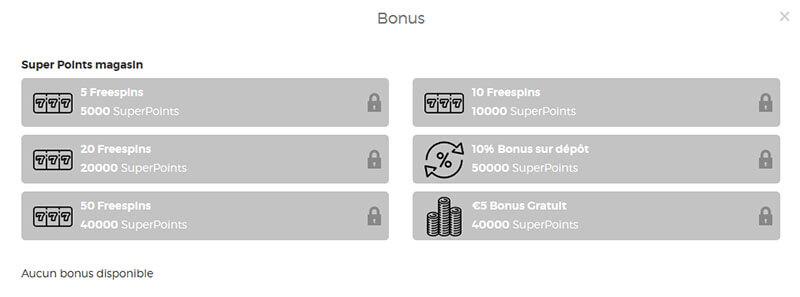 Bonus SuperPoints Lucky31