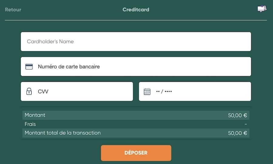 Depot argent cresus Casino