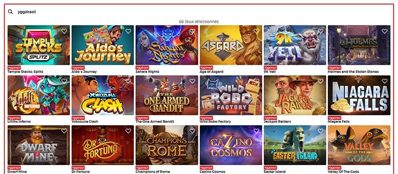 Recherche de jeux par éditeur Lucky31