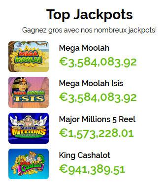Top Jackpots Azur Casino