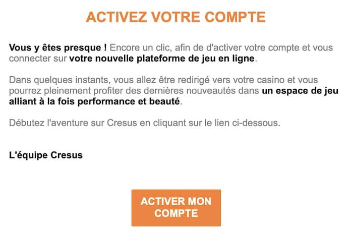 activer le compte email