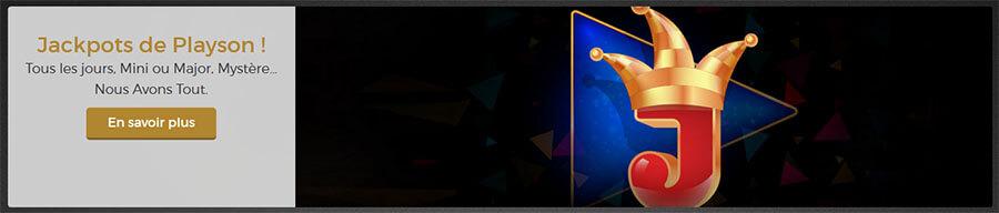 Jackpots de Playson Casino Extra