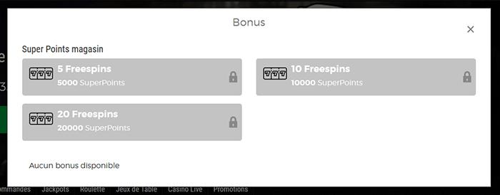 Bonus SuperPoints FatBoss