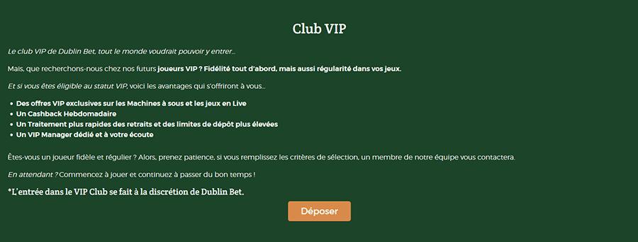 Club VIP DublinBet