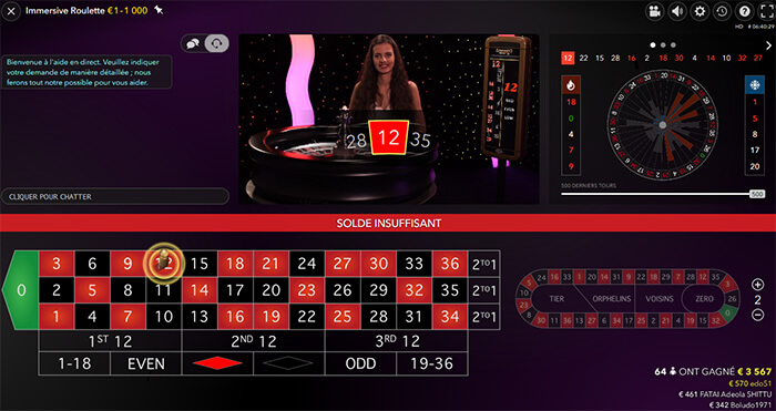 Roulette en direct Stakes Casino